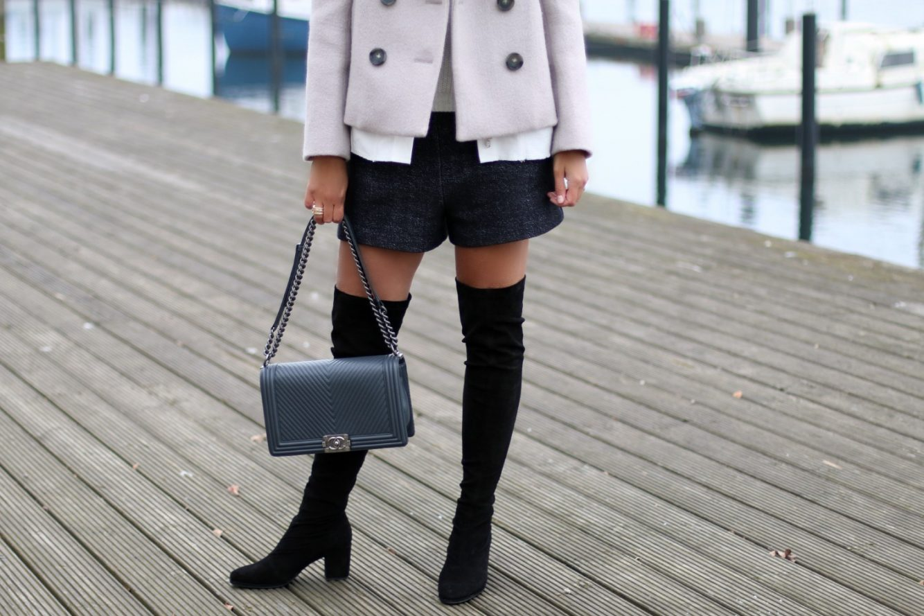 popular street style - over the knee boots