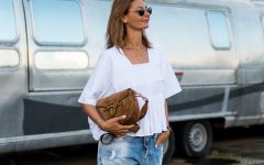 FI chloe top, denim shorts, isabel marant sandals-9285
