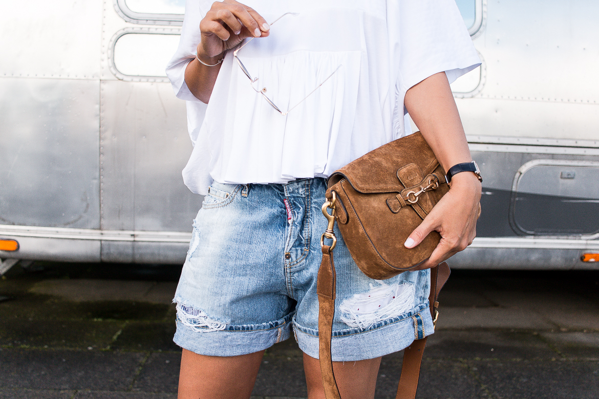 popular street style - denim shorts