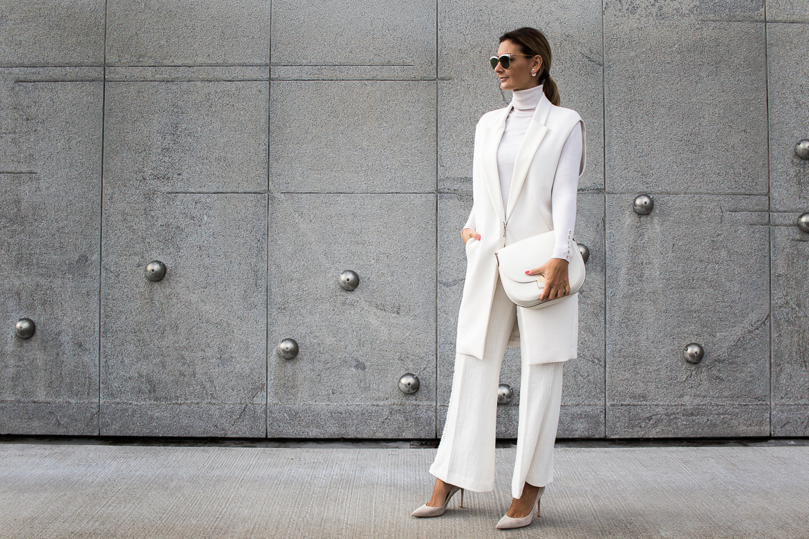 all white look, gianvito rossi heels