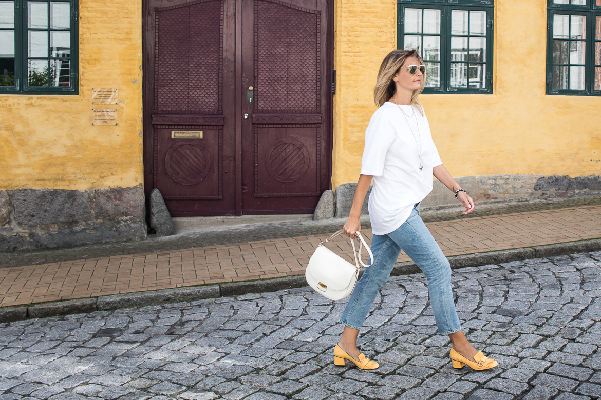 yellow shoes, celine bag, cropped jeans, pop of colour-2224