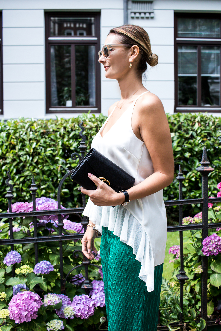 missoni pants, emerald green, dior slides, gucci bag, celine sunglasses-6039