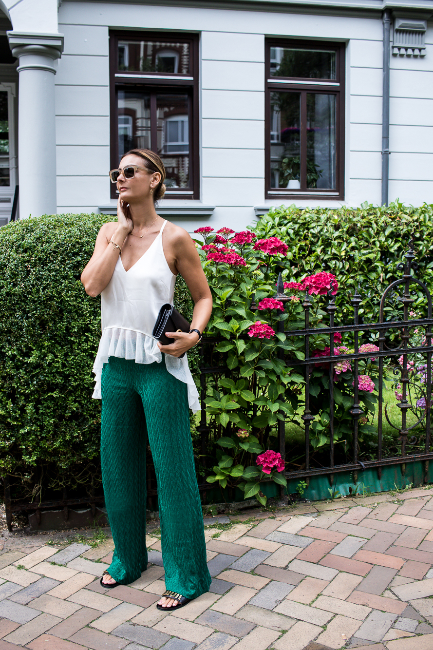 missoni pants, emerald green, dior slides, gucci bag, celine sunglasses-6108