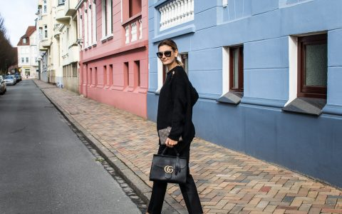 FI all black look with gucci slippers and bag-8705